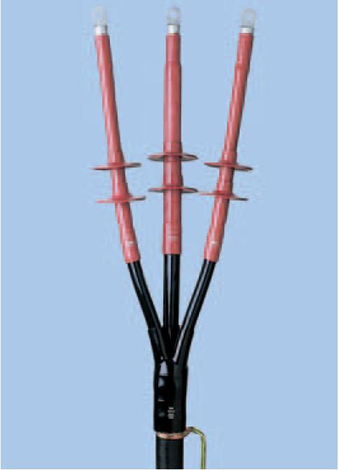 Venkovní koncovky pro třížilové kabely s plastovou izolací a polovodivou vrstvou pro 35 KV